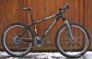 A front suspension mountain bike