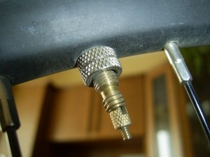 A Presta tube valve