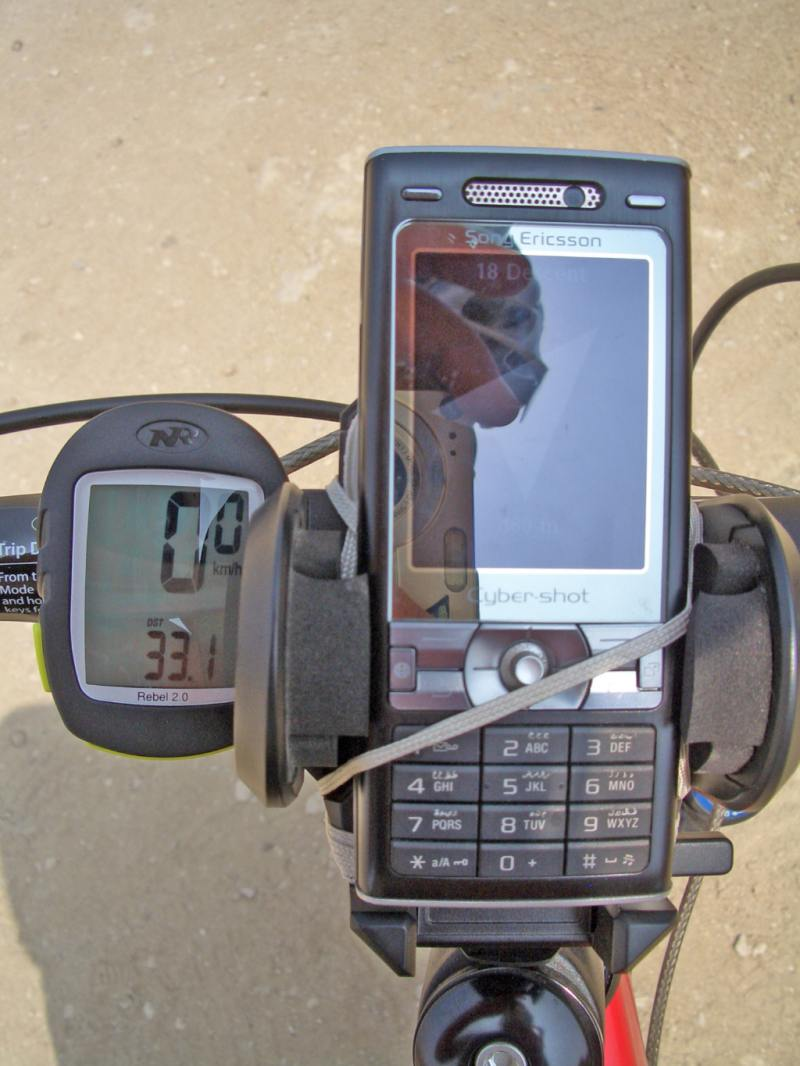 DIY bike GPS and stem mount